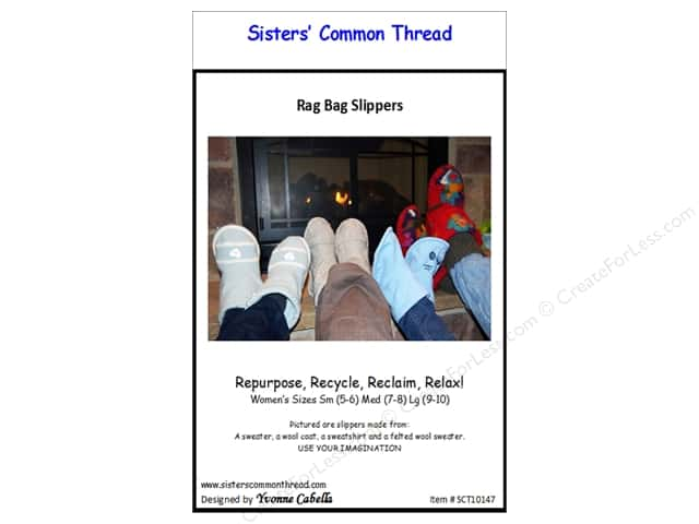 Sisters' Common Thread Rag Bag Slippers Pattern