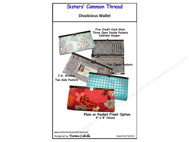 Sisters' Common Thread Divalicious Wallet Pattern