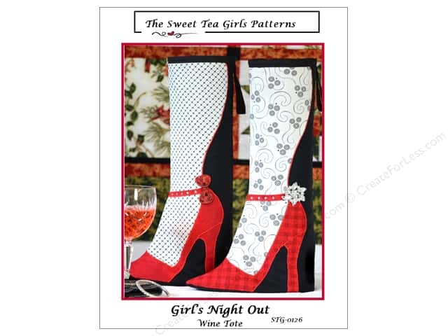 Sweet Tea Girls Girl's Night Out Wine Tote Pattern