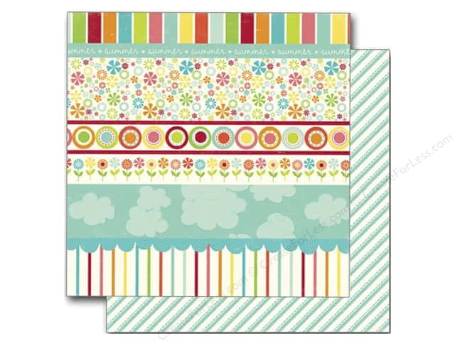 Echo Park 12 x 12 in. Paper Sweet Summertime Collection Sunny Days Border (25 sheets)