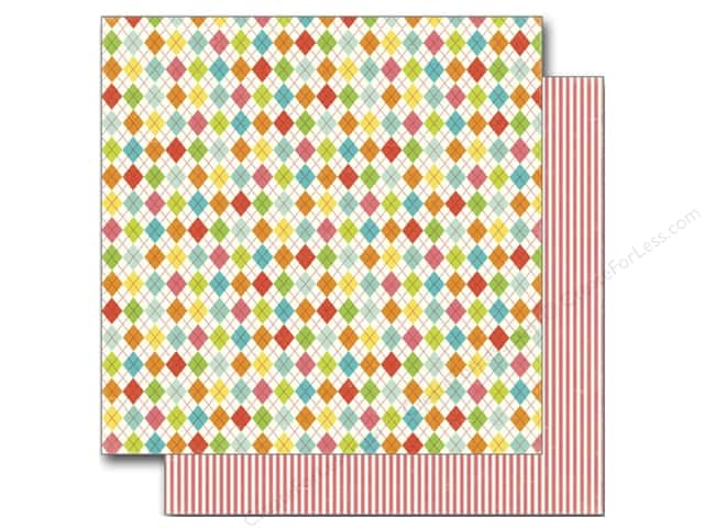 Echo Park 12 x 12 in. Paper Sweet Summertime Collection Summer Argyle (25 sheets)