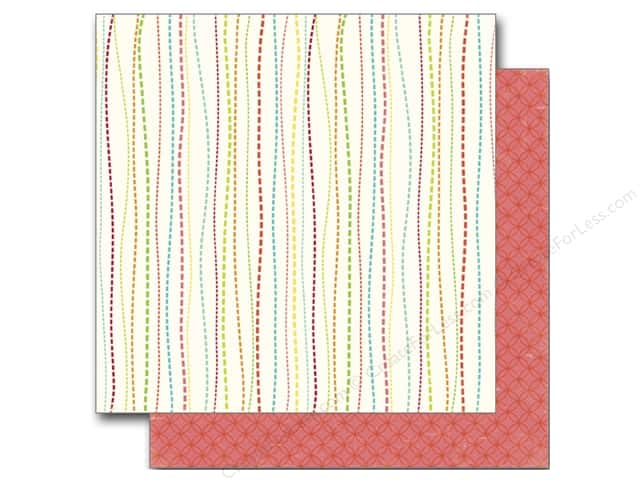 Echo Park 12 x 12 in. Paper Sweet Summertime Collection Whimsy Stripe (25 sheets)