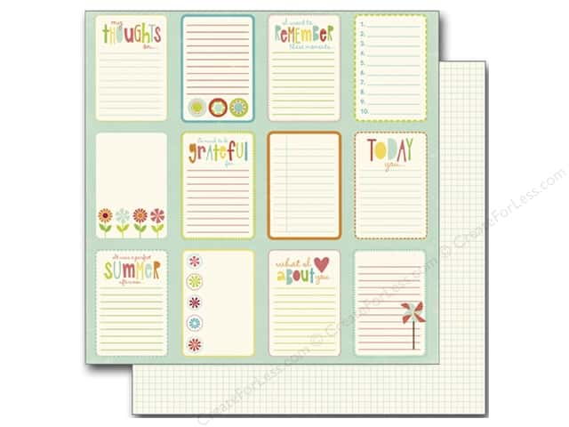 Echo Park 12 x 12 in. Paper Sweet Summertime Collection Journal Card (25 sheets)
