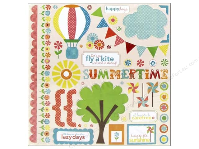 Echo Park Sticker 12 x 12 in. Sweet Summertime Element (15 sheets)