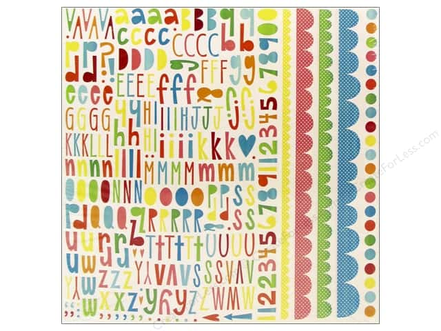 Echo Park Sticker 12 x 12 in. Sweet Summertime Alpha (15 sheets)
