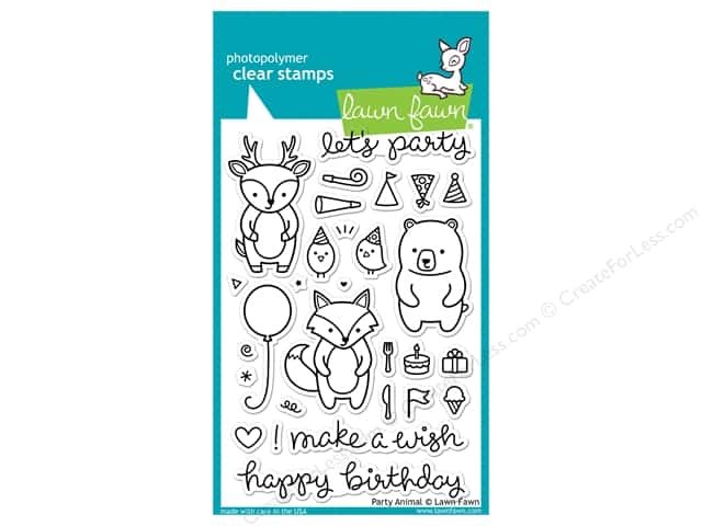 Lawn Fawn Clear Stamp Party Animal
