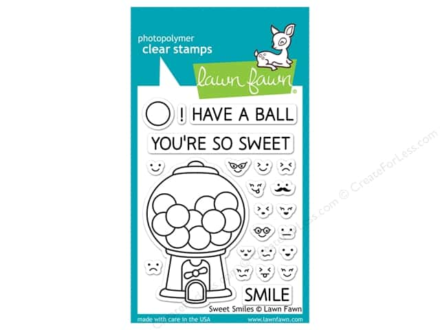 Lawn Fawn Clear Stamp Sweet Smiles -- CreateForLess