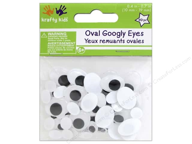 Multicraft Krafty Kids Googly Eyes Oval 10mm-19mm