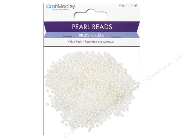 Multicraft Bead Pearl 3mm Ivory 850pc