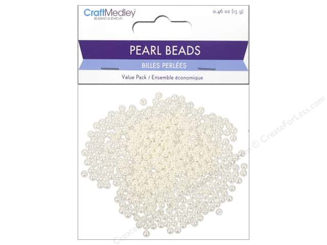 Multicraft Bead Pearl 4mm Ivory 480pc