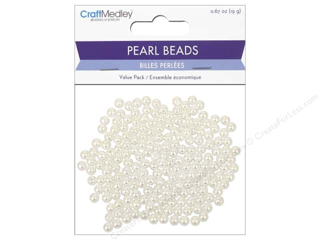 Multicraft Bead Pearl 6mm Ivory 185pc