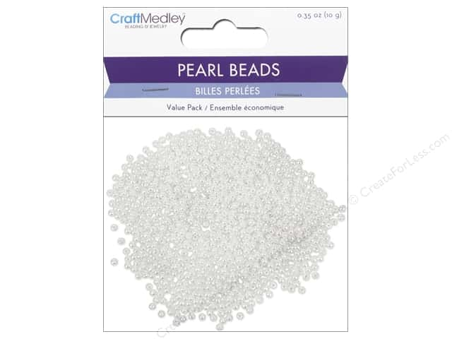 Multicraft Bead Pearl 3mm White 850pc