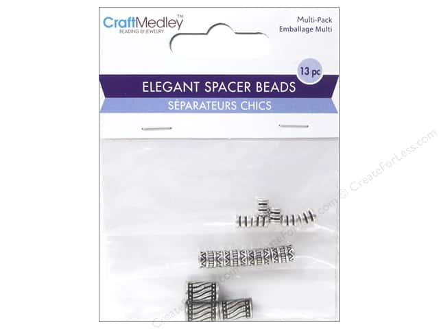 Multicraft Bead Elegant Spacer Barrel Antique Silver