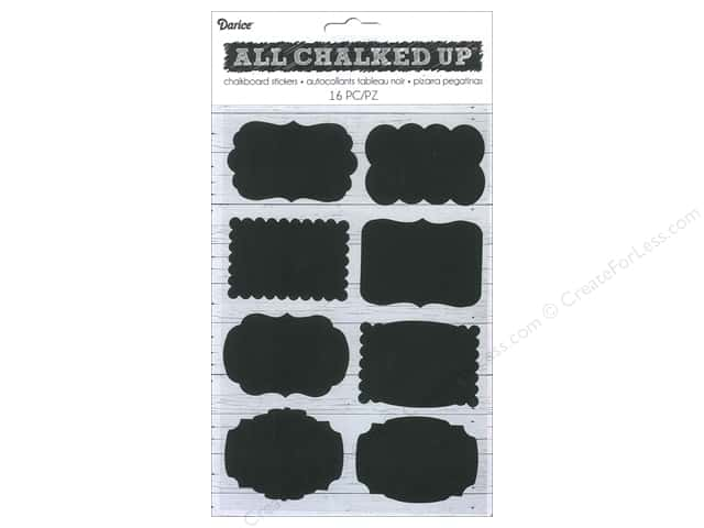 Darice Sticker Chalkboard Vinyl Tags Small