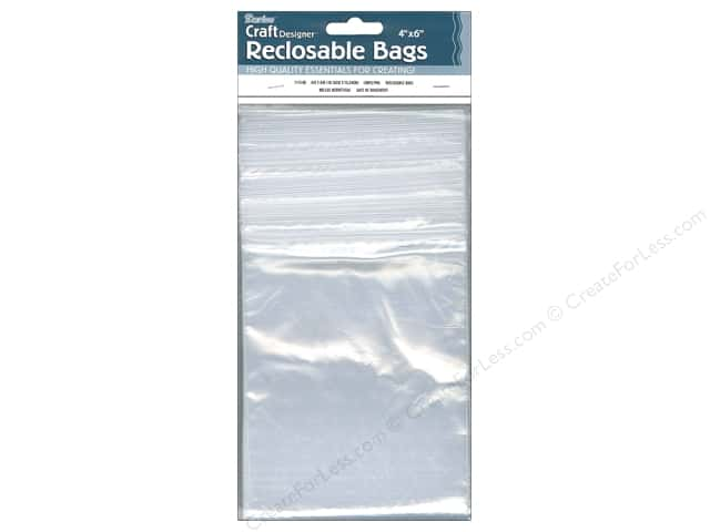 Darice Reclosable Storage Bags 4 x 6 in. 100 pc. Clear