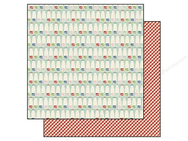 Echo Park 12 x 12 in. Paper Homegrown Collection Milk Bottles (25 sheets)
