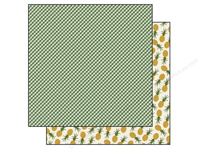 Echo Park 12 x 12 in. Paper Homegrown Collection Gingham Green (25 sheets)