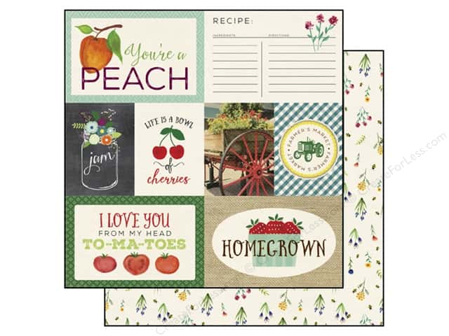 Echo Park 12 x 12 in. Paper Homegrown Collection Journaling Cards (25 sheets)