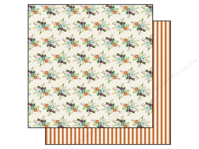 Echo Park 12 x 12 in. Paper Homegrown Collection Wildflower Bouquet (25 sheets)