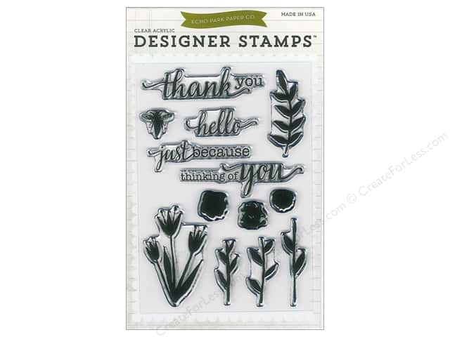 Echo Park Designer Stamp Homegrown Collection Watercolors Flowers