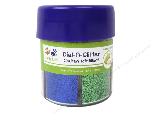 Multicraft Krafty Kids Dial A Glitter Laser 6 Colors