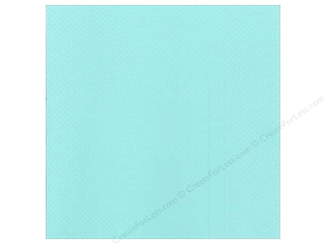 Bazzill 12 x 12 in. Cardstock Dotted Swiss Julep (25 sheets)