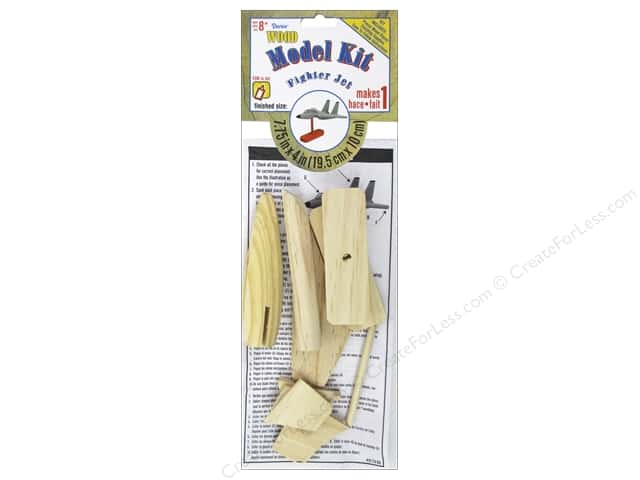 Darice Wood Model Kit Fighter Jet 7 3/4 x 4 in.