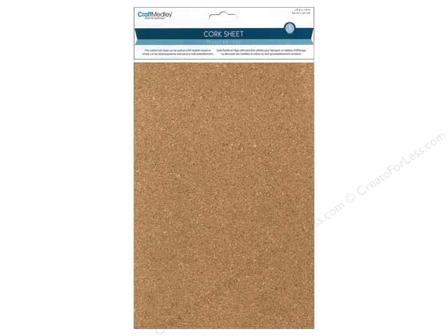 "Mulitcraft Embellishments Cork Sheet 7.8""x 11.8"""
