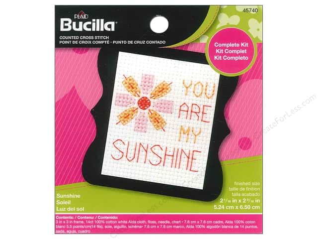 Bucilla Counted Cross Stitch Kit 2 1/2 in. Mini Sunshine