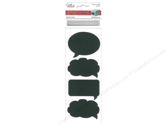 Multicraft Sticker Label Chalkboard & Chalk Word Balloons