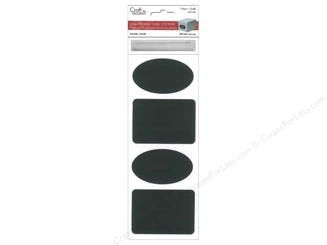 Multicraft Sticker Label Chalkboard & Chalk #2