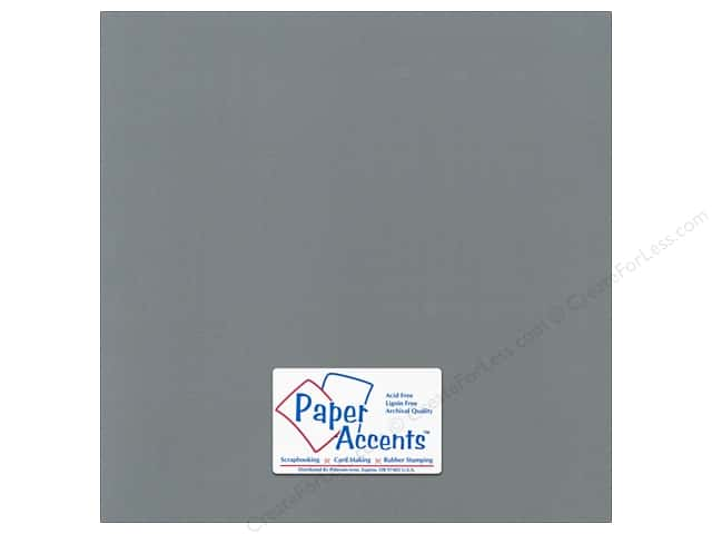 Cardstock 12 x 12 in. Canvas Cloak Gray by Paper Accents (25 sheets)