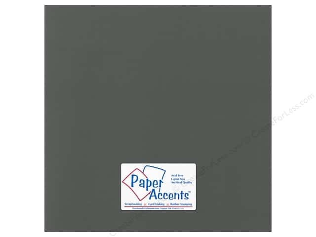 Paper Accents Cardstock 12 x 12 in. Canvas Charcoal (25 sheets)