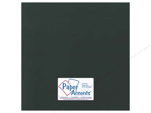 Paper Accents Cardstock 12 x 12 in. Canvas Black Magic (25 sheets)