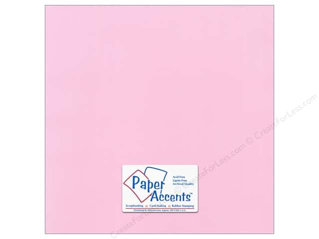 Paper Accents Cardstock 12 x 12 in. Canvas Sweetie Pie (25 sheets)