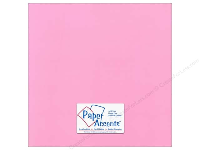 Paper Accents Cardstock 12 x 12 in. Canvas Pink Punch (25 sheets)