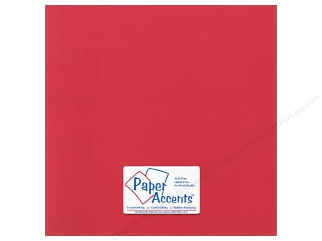 Paper Accents Cardstock 12 x 12 in. Canvas Red Cherry (25 sheets)