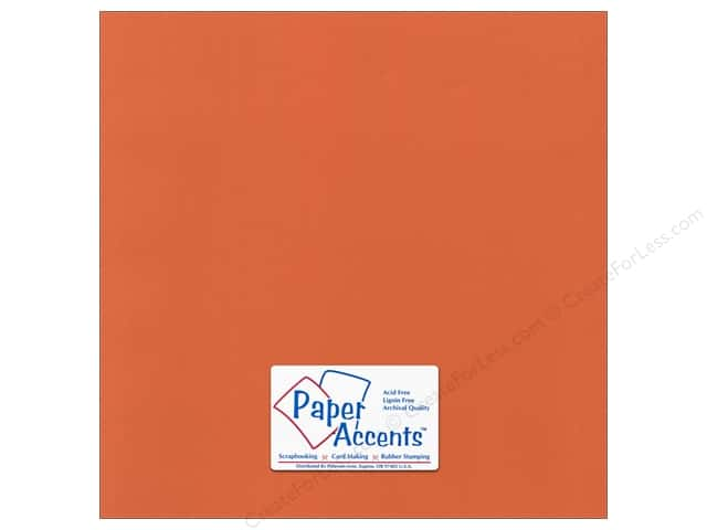 Paper Accents Cardstock 12 x 12 in. Canvas Mandarin (25 sheets)