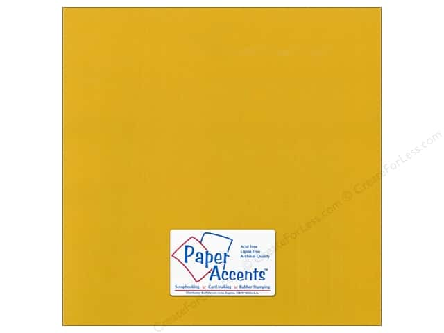 Cardstock 12 x 12 in. Canvas Goldenrod by Paper Accents (25 sheets)