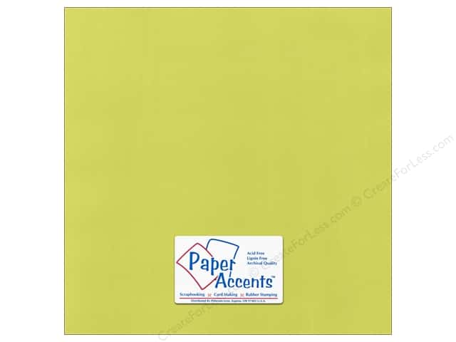 Paper Accents Cardstock 12 x 12 in. Canvas Limelight (25 sheets)