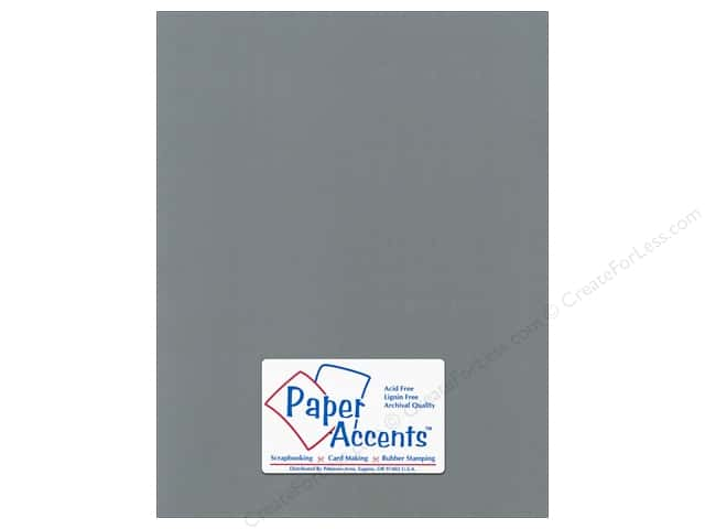 Cardstock 8 1/2 x 11 in. Canvas Cloak Gray by Paper Accents (25 sheets)
