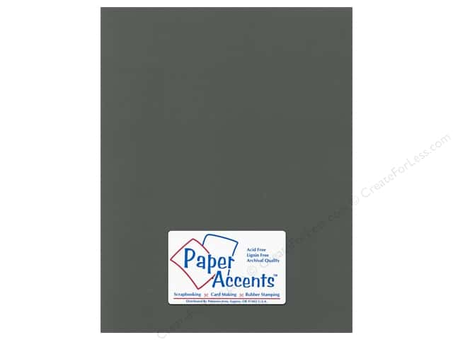 Cardstock 8 1/2 x 11 in. Canvas Charcoal by Paper Accents (25 sheets)