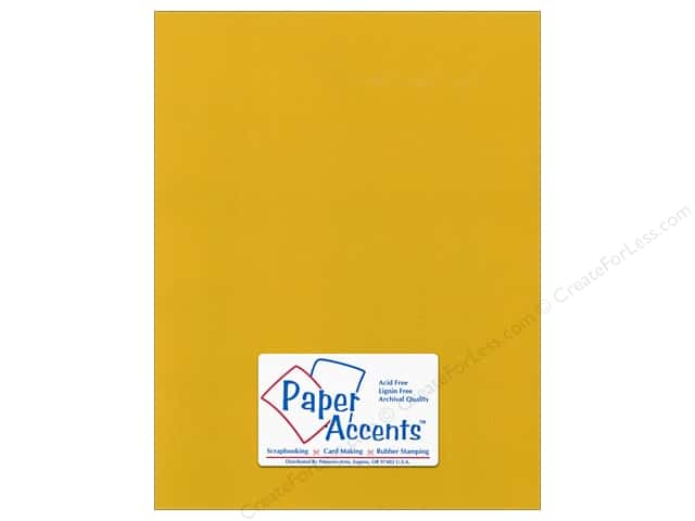 Paper Accents Cardstock 8 1/2 x 11 in. #54411 Canvas Goldenrod (25 sheets)