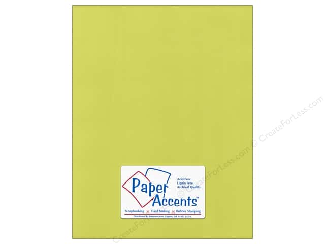 Cardstock 8 1/2 x 11 in. Canvas Limelight by Paper Accents (25 sheets)