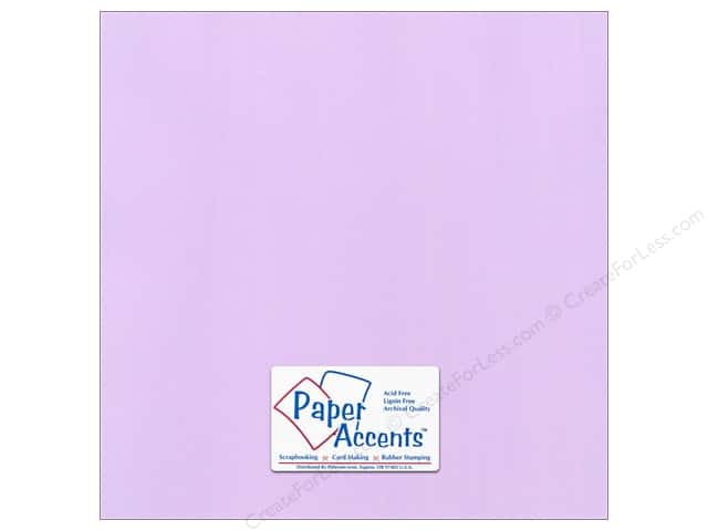 Cardstock 12 x 12 in. Canvas Lilac Mist by Paper Accents (25 sheets)