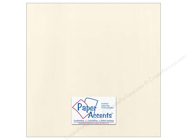 Cardstock 12 x 12 in. Canvas Ecru by Paper Accents (25 sheets)
