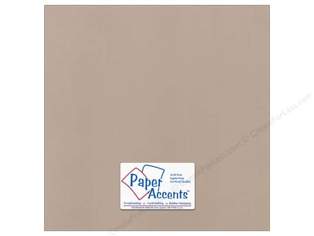 Paper Accents Cardstock 12 x 12 in. Canvas Chamois (25 sheets)