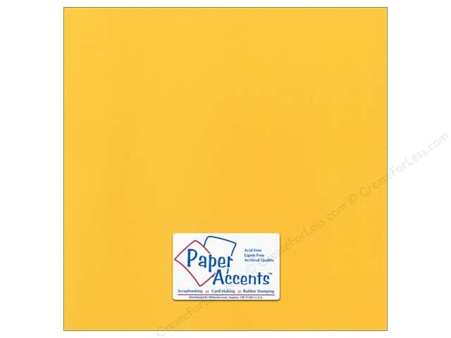 Cardstock 12 x 12 in. Canvas Banana Pepper by Paper Accents (25 sheets)