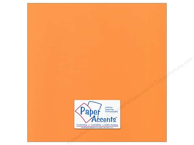 Paper Accents Cardstock 12 x 12 in. Canvas Sweet Potato (25 sheets)