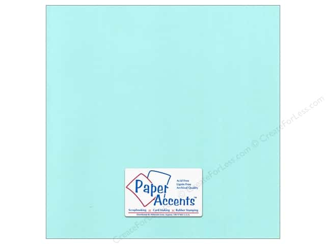 Paper Accents Cardstock 12 x 12 in. Canvas Spearmint (25 sheets)